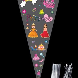PRINCESS Large Cellophane Sweet Cone Bags