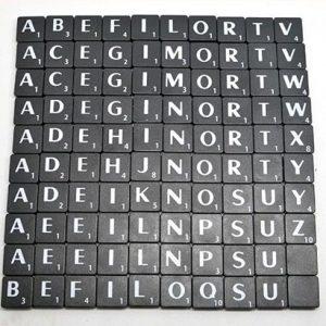 Black Scrabble letters