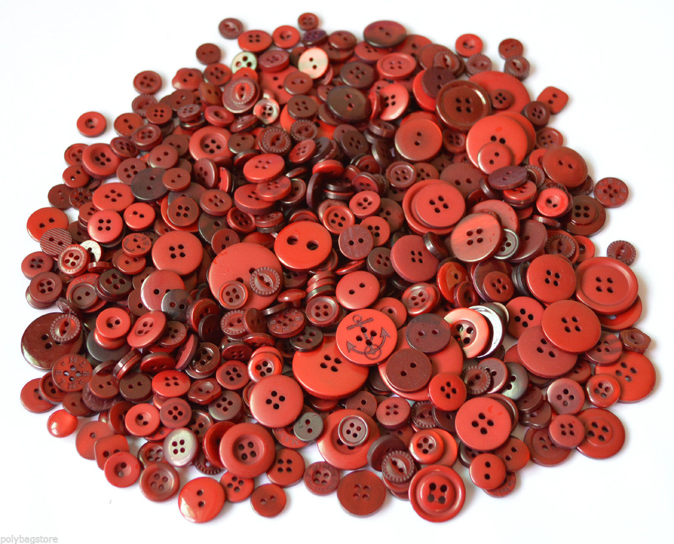 ASSORTED BUTTONS PACK OF 50G ORANGE MIXED BUTTONS PLASTIC BUTTONS