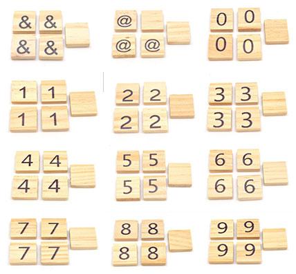 Wooden Scrabble